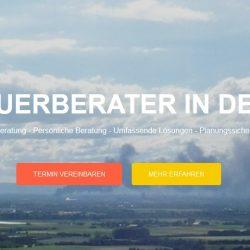 Screenshot der Webseite von Steuerberater Florian Fischer